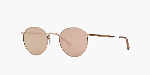 Wilson M 49 Sandstone/Semi-Flat Pink Gold Mirror | is the all-metal version of our popular Wilson style with acetate temples and detailed filigree.