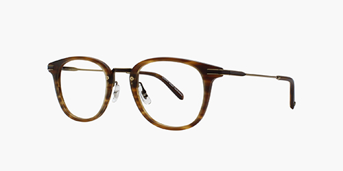 Kinney Combo 47 Matte Brandy Tortoise | is a classic with a twist. Our bestselling Kinney shape, reimagined into a metal/acetate combo, with a metal bridge, adjustable nose pads, and metal temple inlays.
