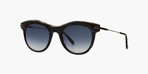 Andalusia 49 Basalt/Blue Gradient | is a large women's acetate frame with a subtle cat eye shape and thin metal/acetate color filled temples, paired with complementary CR-39 gradient lenses.