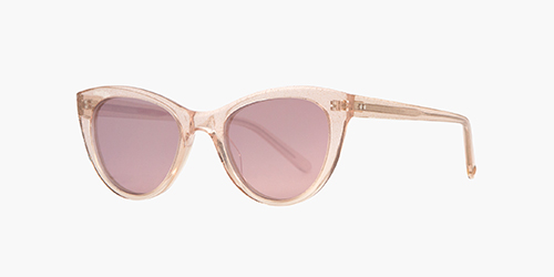 Garrett Leight x Clare Vivier 47 Éclat | is a limited edition collab frame developed with LA accessories designer Clare V. is defined by a retro but resized cat eye shape and colorful acetate finishes.