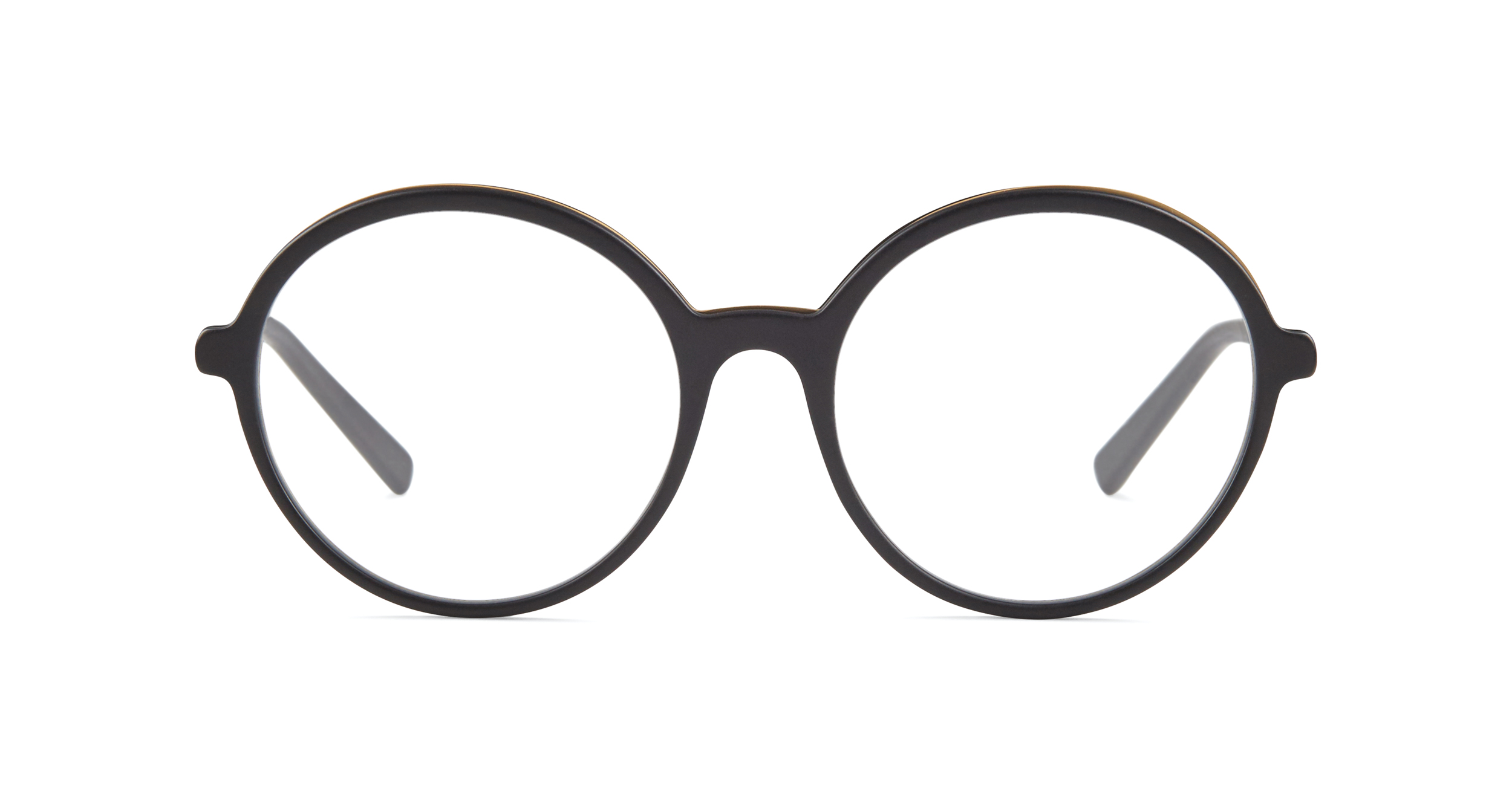 FLEYE | frame: page in matte black, semi matte yellow gold