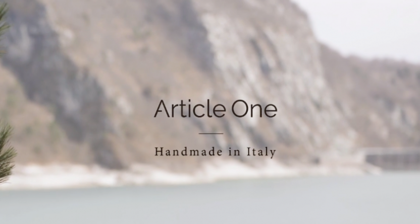 ARTICLE ONE – Handmade in Italy