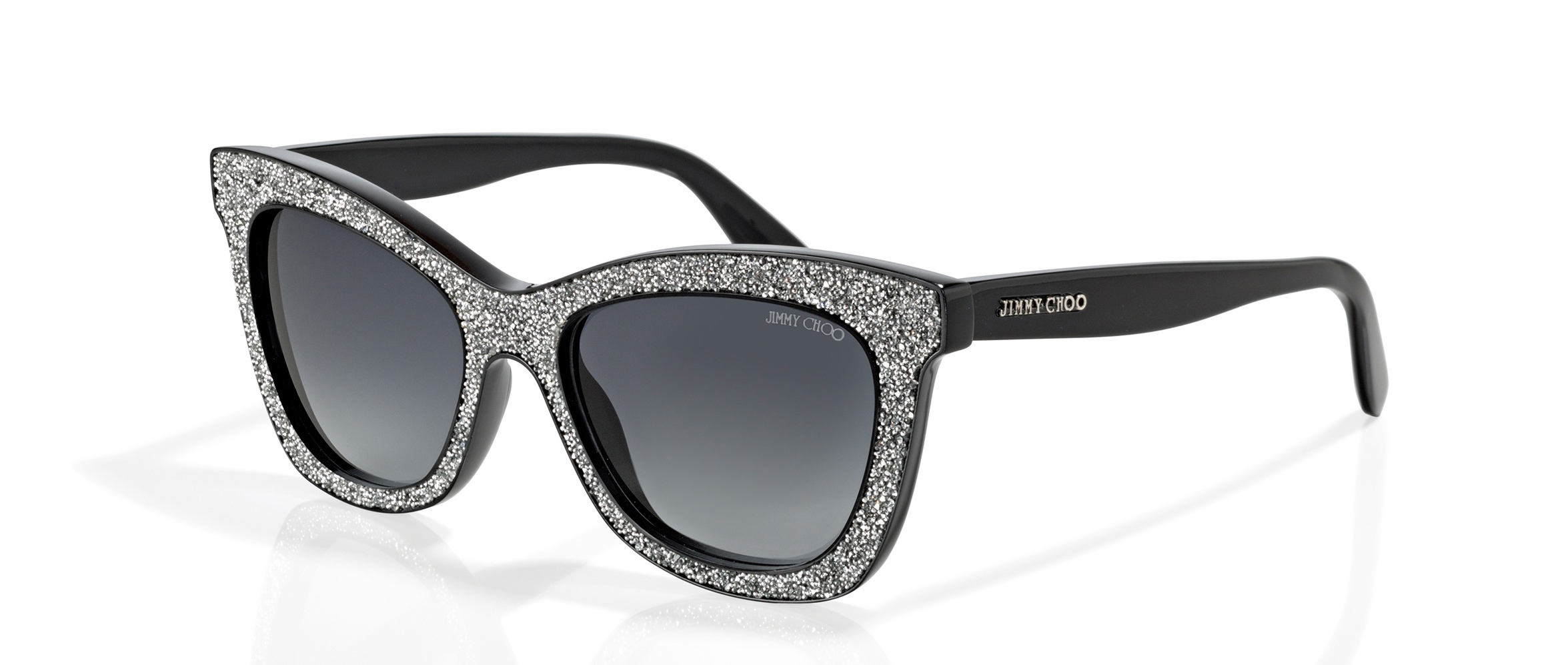9b2bfbc69c00 With the Jimmy Choo sunglasses with small Swarovski crystals nobody needs  sparkling eyes