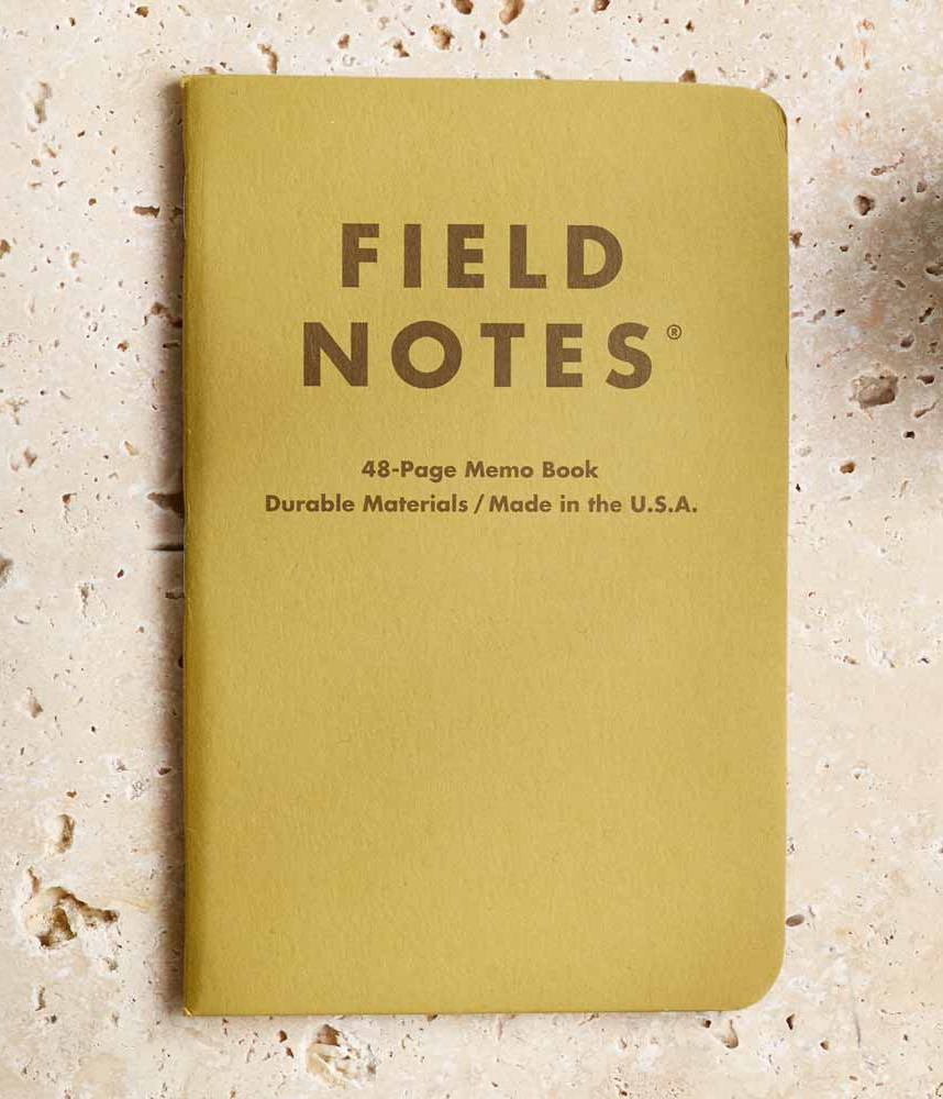 notebook: FIELD NOTES